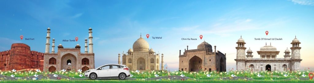 Book Taxi Online to Explore Agra from Kanpur